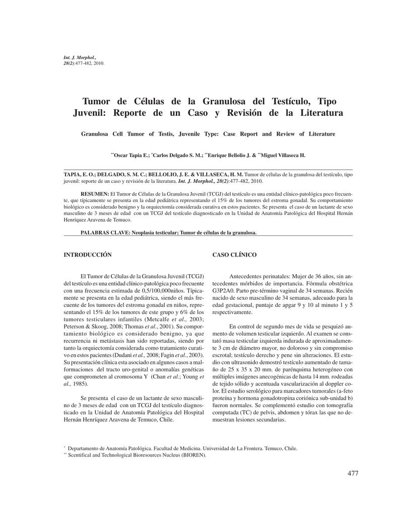 Tumor de Células de la Granulosa del Testículo, Tipo Juvenil