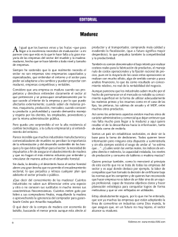 Madurez - Revista MM