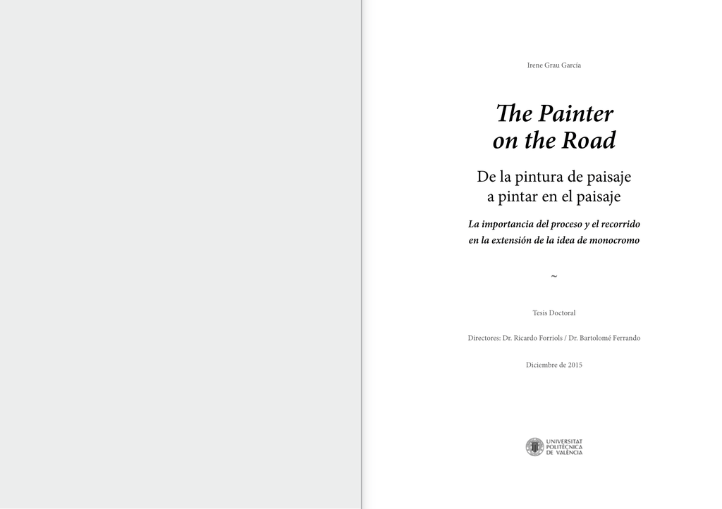 The Painter on the Road - RiuNet repositorio UPV