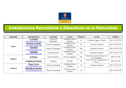 Instalaciones Recreativas y Educativas en la Naturaleza TEXTO