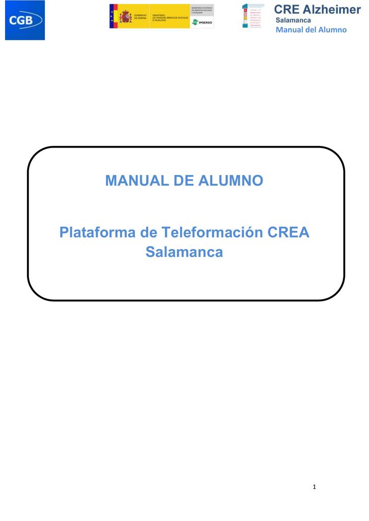 Manual De Alumno Plataforma De Teleformacion Crea