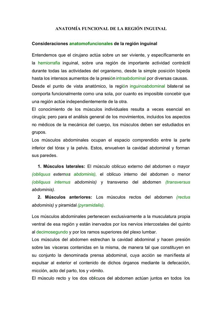 Cap.3 ANATOMÍA FUNCIONAL DE LA REGIÓN INGUINAL