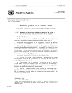 Resolución N° 57/227 de la Asamblea General: Respeto