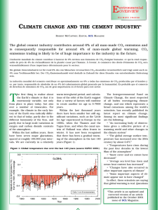 The cement industry and climate change