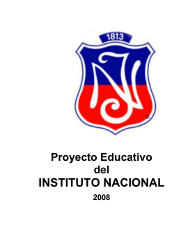 Proyecto Educativo - Instituto Nacional