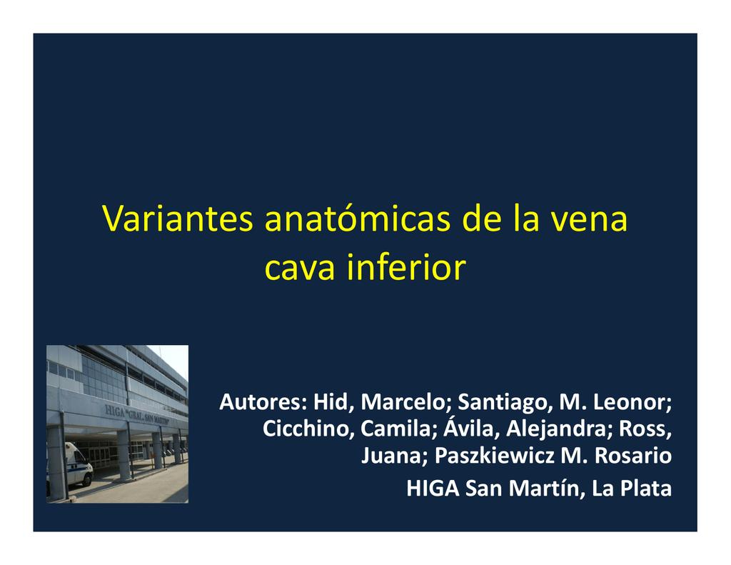 Variantes anatómicas de la vena cava inferior