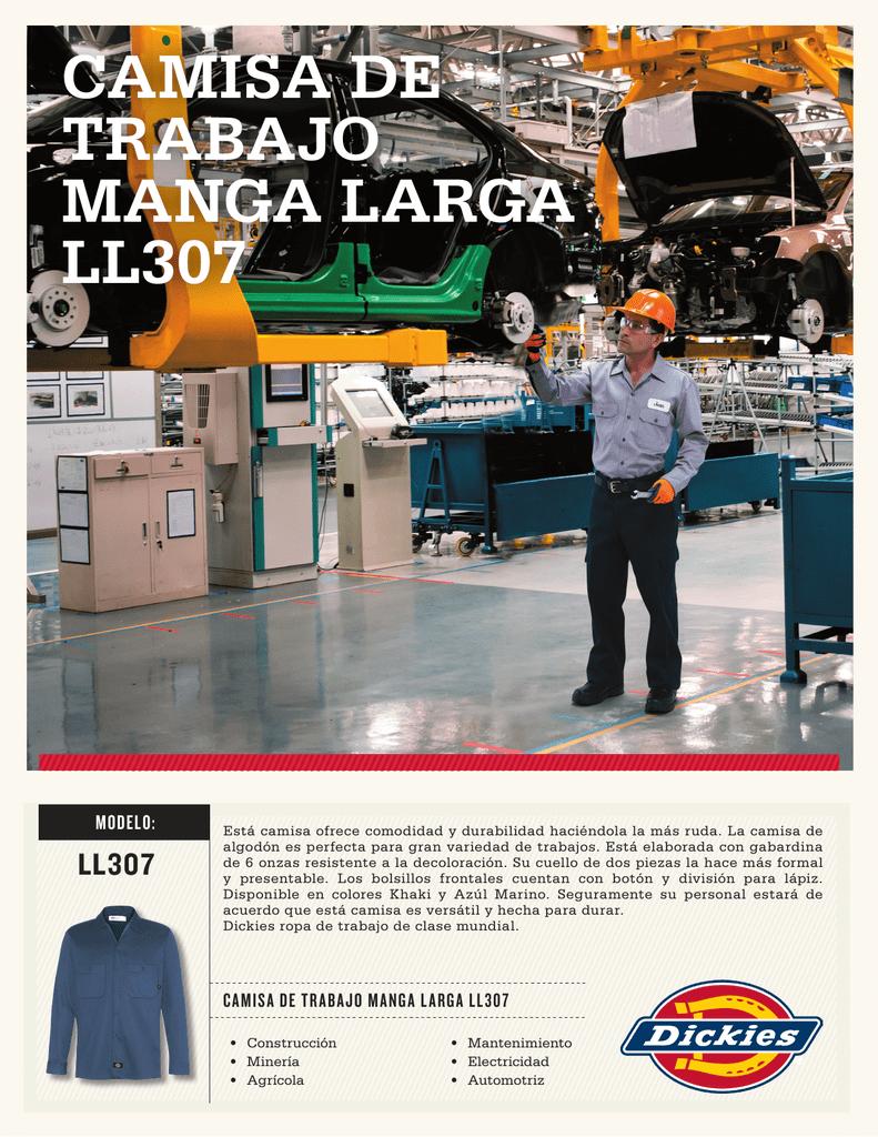 39f1067bab CAMISA DE TRABAJO MANGA LARGA LL307 MODELO  LL307 Está camisa ofrece  comodidad y durabilidad haciéndola la más ruda. La camisa de algodón es  perfecta para ...