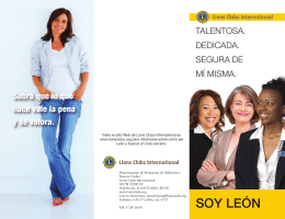 SOY LEÓN - Lions Clubs International