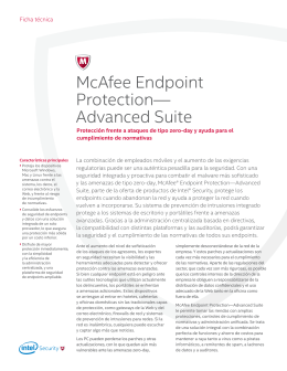 McAfee Endpoint Protection Advanced Suite Ficha Técnica