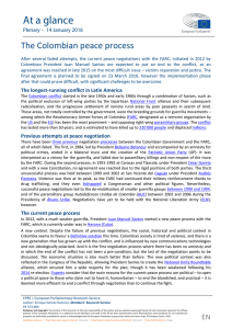 EP Research note on the Colombian peace process (January 2016)
