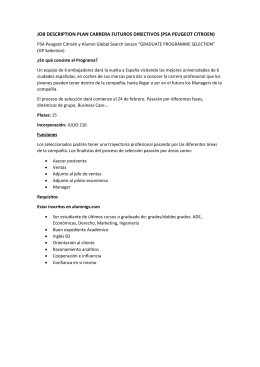 job description plan carrera futuros directivos (psa peugeot