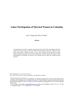 Labor Participation of Married Women in Colombia