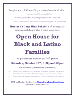 Open House for Black and Latino Families