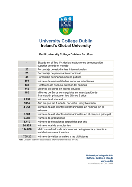 University College Dublin Ireland`s Global University