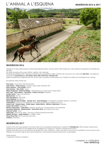 residencies 2016-2017 - L`animal a l`esquena