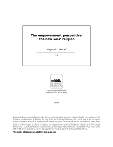 The empowerment perspective: the new NGOS` religion