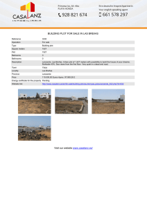 GROUND FOR SALE IN LAS BREñAS Visit our website www