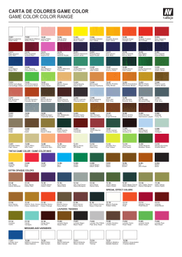 carta de colores game color game color color range