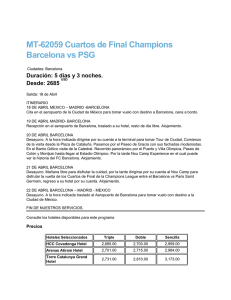 MT-62059 Cuartos de Final Champions Barcelona vs PSG
