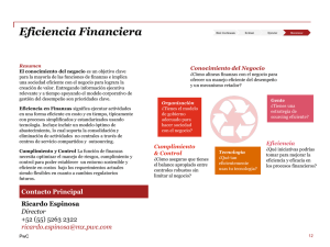 Eficiencia Financiera
