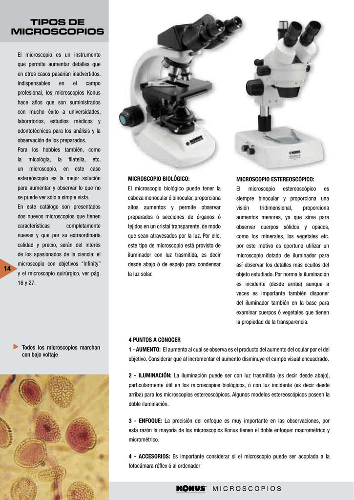 10c7496fa6 TIPOS DE MICROSCOPIOS - Centro Óptico Electrónico