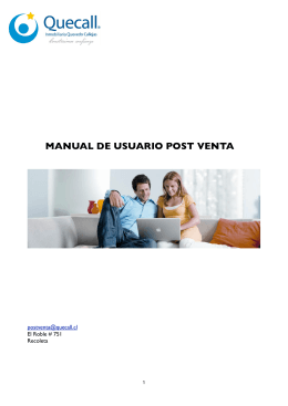 Manual Usuario Post Venta