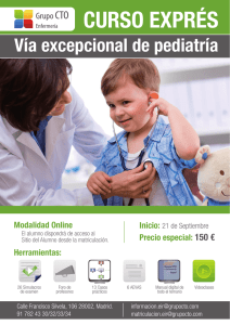 Via excepcional Pediatría