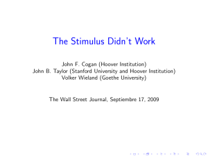 The Stimulus Didn`t Work