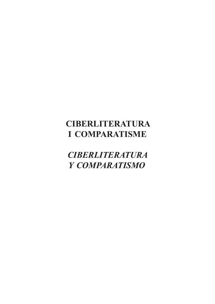 release date b217d 086e0 Ciberliteratura i comparatisme - Pontificia Universidad Javeriana