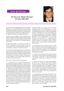 Carta del Director - Universidad Nacional Mayor de San Marcos