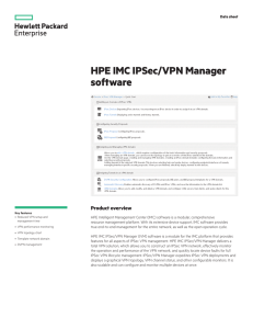 HPE IMC IPSec/VPN Manager software data sheet