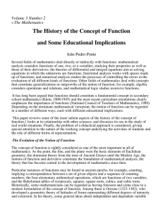 History of the Concept of Function