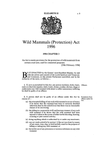 Wild Mammals (Protection) Act