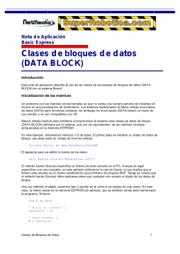 Clases de bloques de datos (DATA BLOCK)