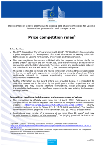 Prize competition rules1