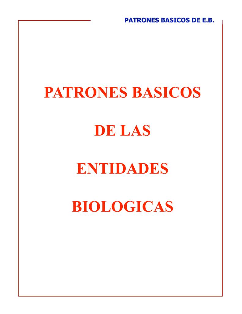 11-Patrones básicos de Entidades-Biologicas
