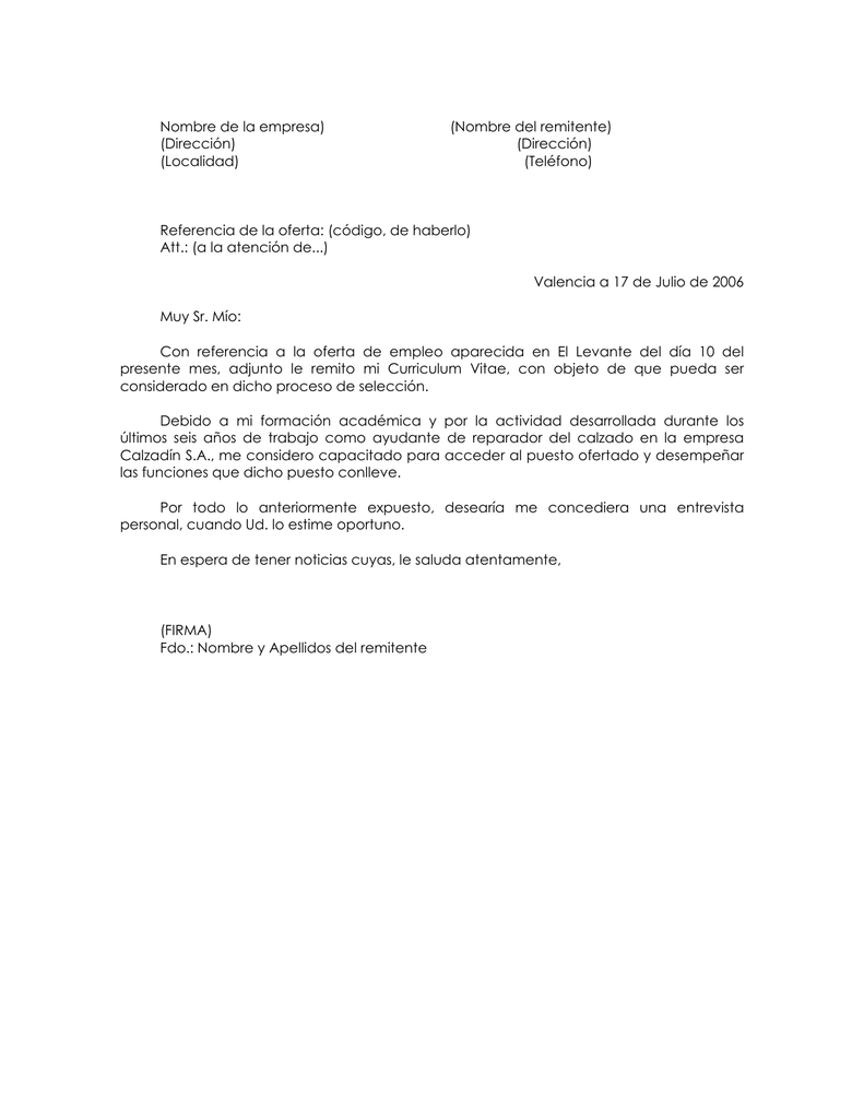Lujoso Por Favor Encuentre Mi Currículum Adjunto A Este Correo ...