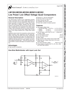 LM139/LM239/LM339/LM2901/LM3302 Low Power