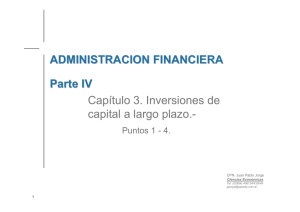 Inversiones de capital a largo plazo