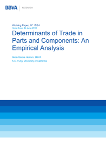 Determinants of Trade in Parts and Components: An Empirical