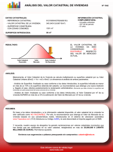 Informe Valor Catastral