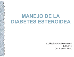 manejo de la diabetes esteroidea