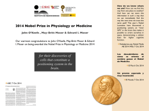 2014 Nobel Prize in Physiology or Medicine for their discoveries of