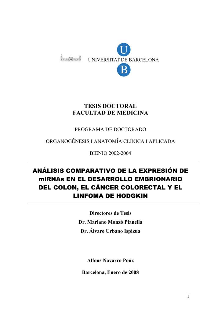 TESIS DOCTORAL FACULTAD DE MEDICINA ANÁLISIS