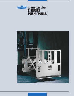 e-series push/pulls. - Cascade Corporation
