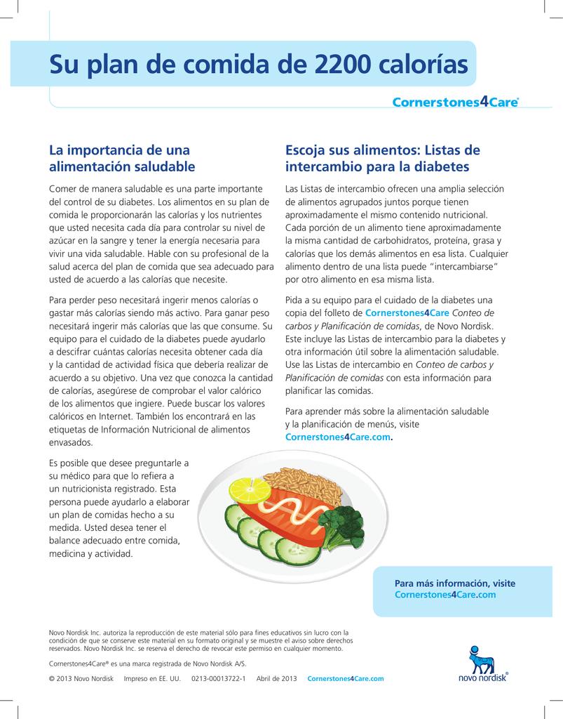 dieta de intercambio diabetes 2020