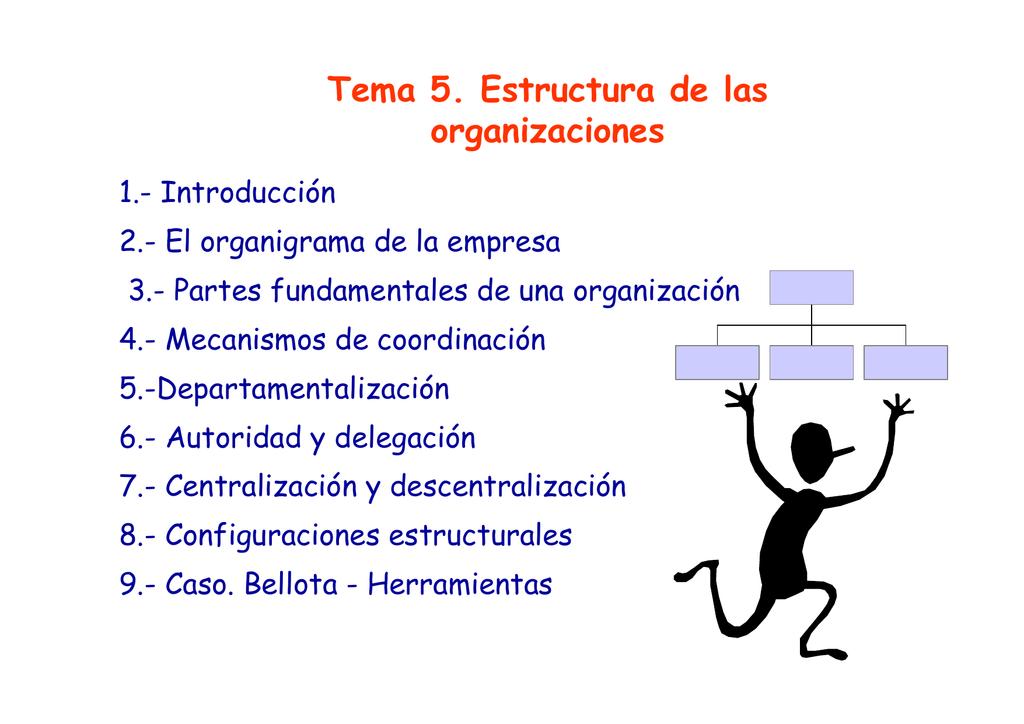 Tema 5 Estructura De Las Organizaciones