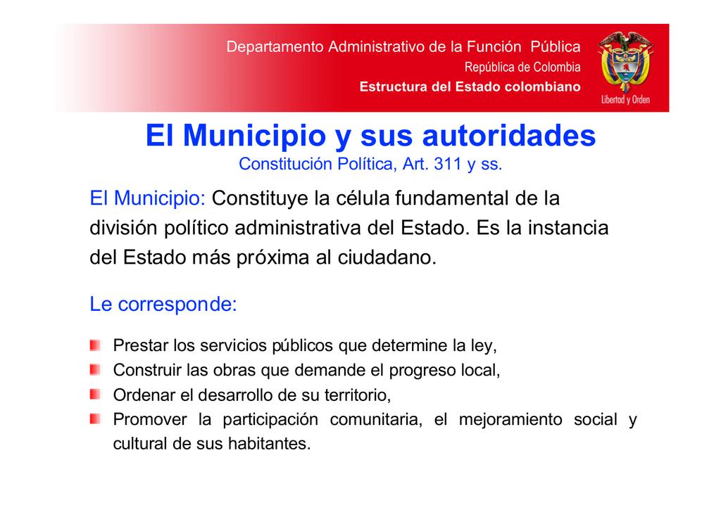 Dafp Ii Parte El Municipio Y Sus Autoridades