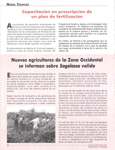 Nuevos agricultores de la Zona Occidental se informan sobre