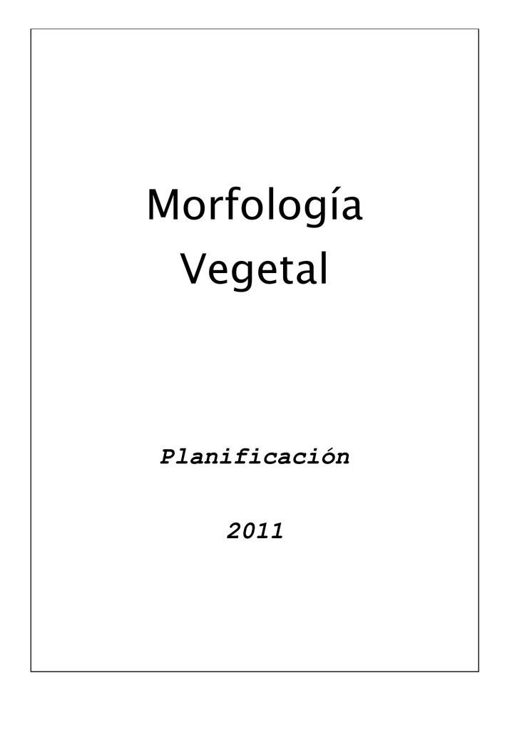 Morfología Facultad De Ciencias Agrarias